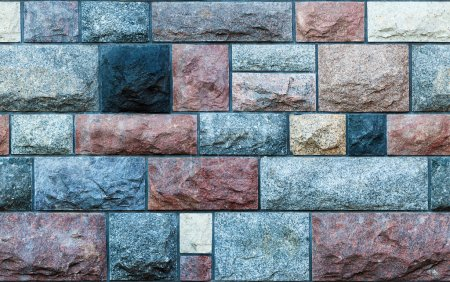 Seamless stone blocks wall