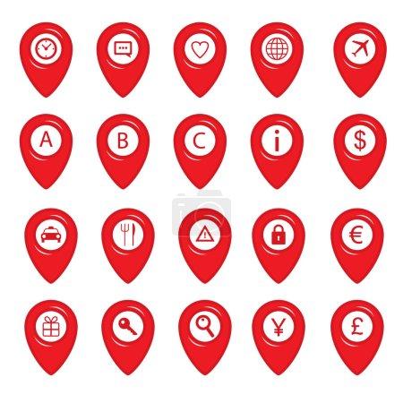 Carte des icônes broches