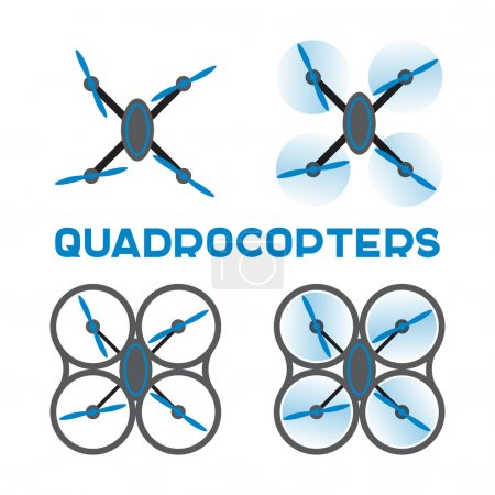 Flat quadrocopters icons