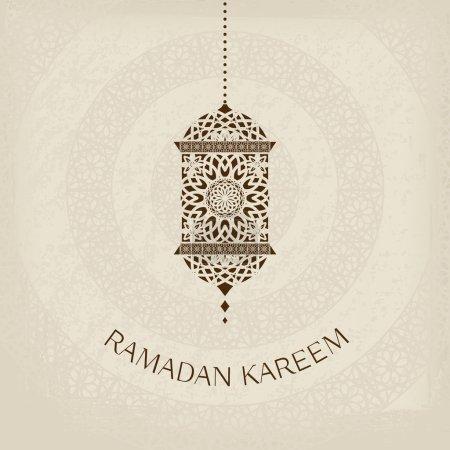 Ramadan Kareem vector greeting card