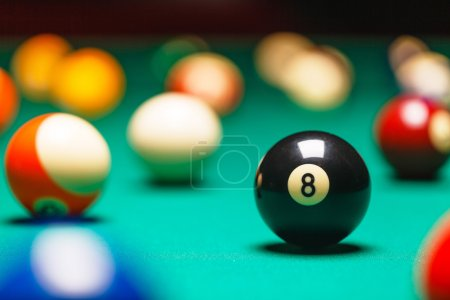 Billiard balls  number 8
