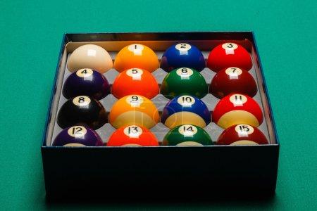 Full set of snooker balls