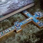 Eastern Orthodox Cross detail closeup...
