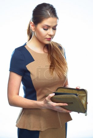 Businesswoman holds purse