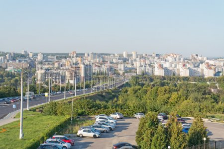 View on a city Belgorod from the heights of the Kh...