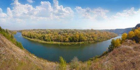 Beautiful autumn panoramic landscape. Tarasova Mou...