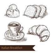 hand drawn breakfast elements