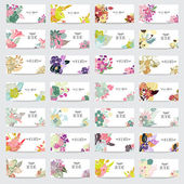 28 elegant cards with floral bouquets design elements Can be used for wedding baby shower mothers day valentines day birthday cards invitations Vintage decorative flowers