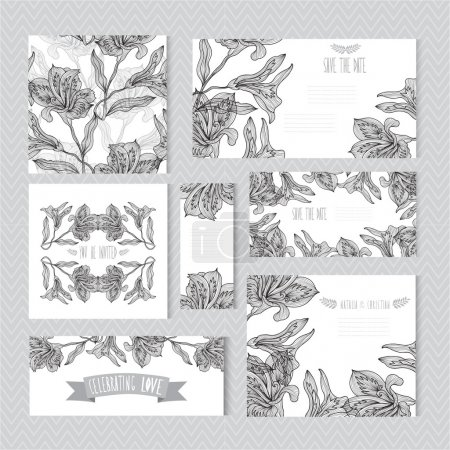 floral cards set