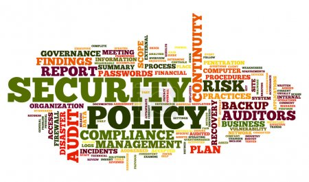 Security policy in word tag cloud