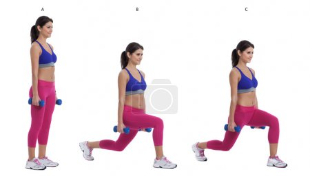 Reverse dumbbell lunge
