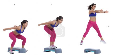 Straddle jumps exercise