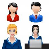 Customer support phone operators Vector illustration 10 eps