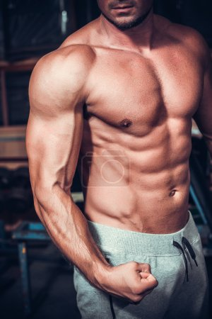 Photo for Beautiful and strong young muscular guy - Royalty Free Image