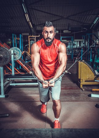 Body Builder Working Out