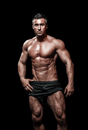 muscular handsome athletic man