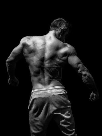 Muscular male model bodybuilder