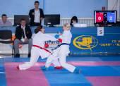 Weibliche Karate-Kampf