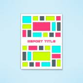 Vector brochure template in modern bright design Book cover with colorful rectangles Flyer mockup