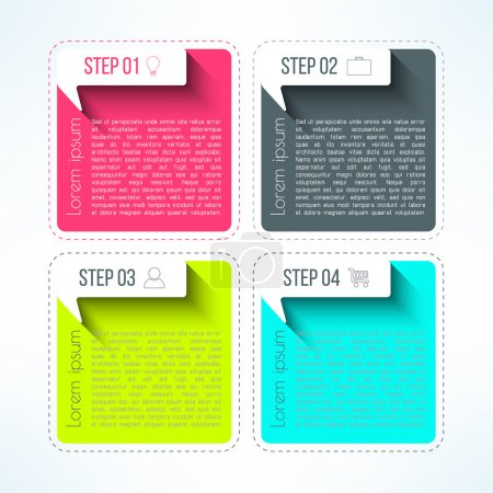 infographic template in modern flat design