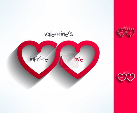 Set of vector valentines infinite love signs