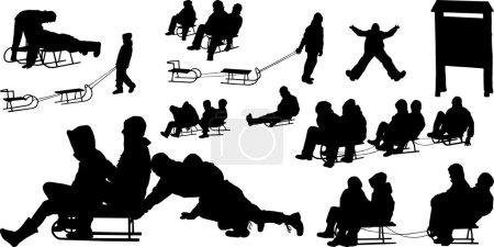 Children's on sledging