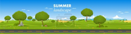 Illustration for Beautiful country landscape - Royalty Free Image