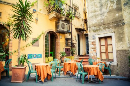 street cafe in Taormina