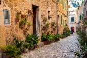 heaps of flower pots in small village Valldemossa