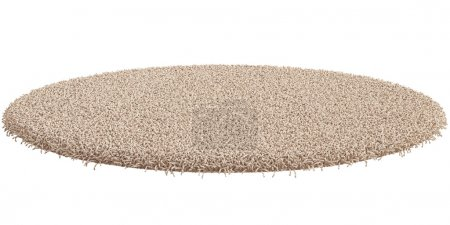 Photo for 3d render of round carpet isolated on white background - Royalty Free Image