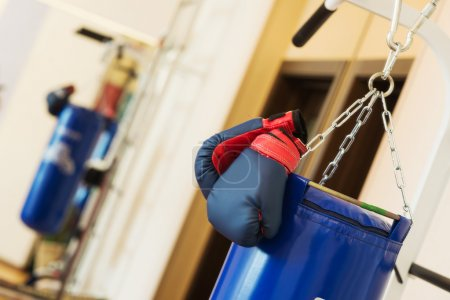 Boxing gloves and punching bag