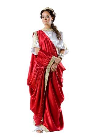 Römisch-griechische Göttinnen, isoliert auf weißem Grund