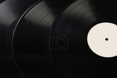 black vinyl records