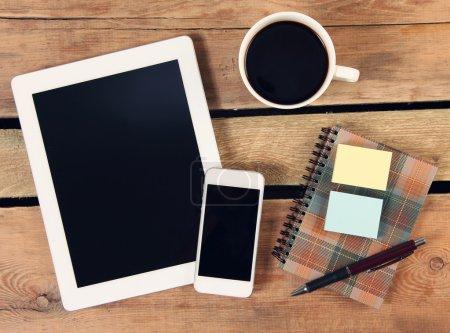 Foto de Touch pantalla tablet PC y el teléfono - Imagen libre de derechos