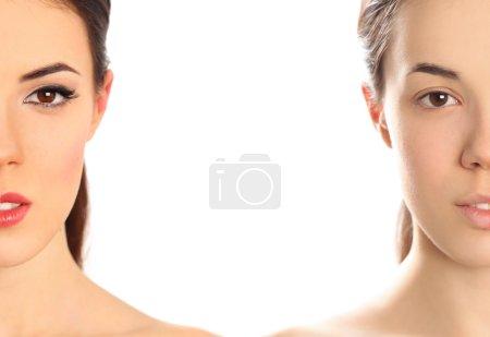 faces on white