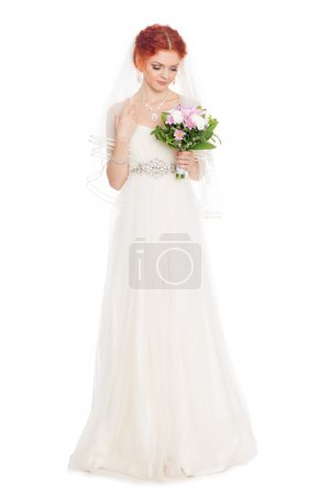 Charming bride with a bouque
