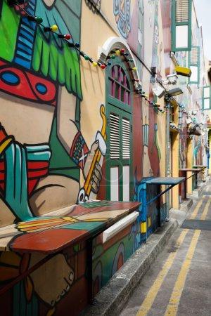 Graffiti in the Haji Lane in Singapore