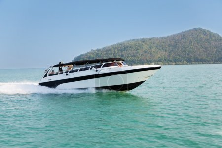 Cruise speed boat  in the Andaman Sea, Thailand