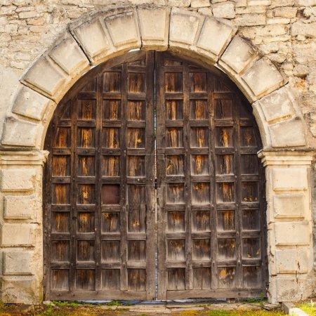 View of old door
