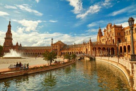 Spain Square (Plaza de Espana). Seville, Spain.