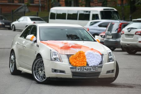 Chrysler decorated for wedding