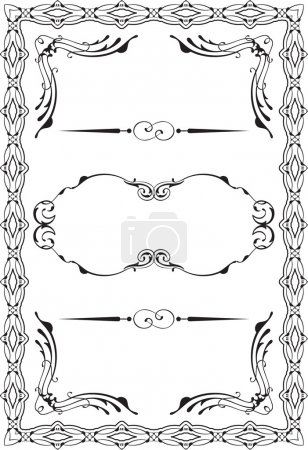 Illustration for Vintage nice victorian frame is on white - Royalty Free Image