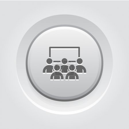 Business Conference Icon. Online Learning