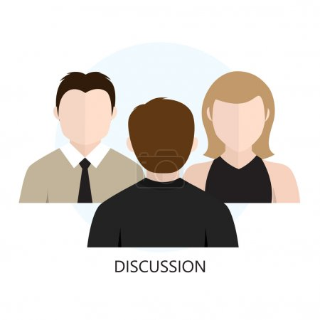 Discussion Icon Flat design  Concept
