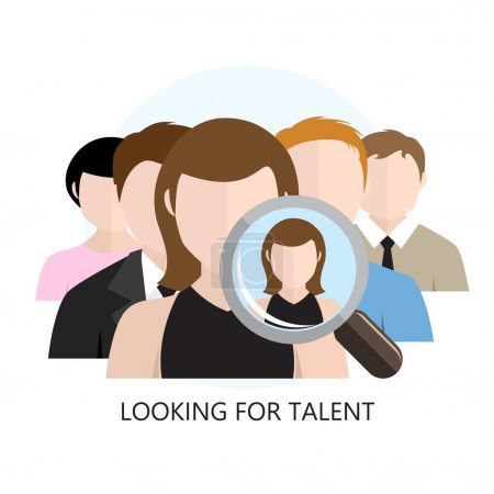 Looking for Talent Icon Flat Design