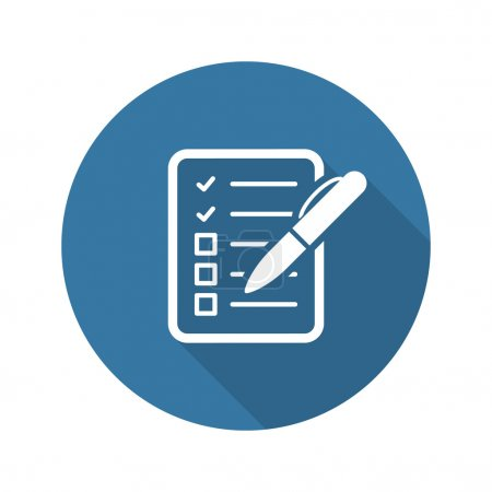 Check List Icon. Business Concept. Flat Design. Is...