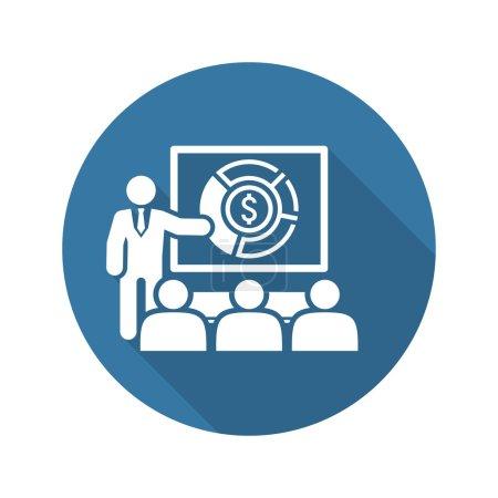 Market Analysis Icon. Business Concept. Flat Design.