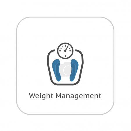 Weight Management Icon. Flat Design.