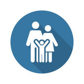 Family Support Icon Flat Design
