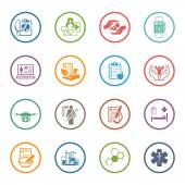 Medical and Health Care Icons Set Flat Design